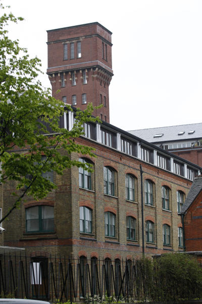 General view of a gated residential flats in Bow, east London, where the Ministry of Defence have warned residents that surface-to-air missiles could be stationed on their rooftops during the London Olympics, Sunday, April 29, 2012. (AP Photo/Sang Tan)