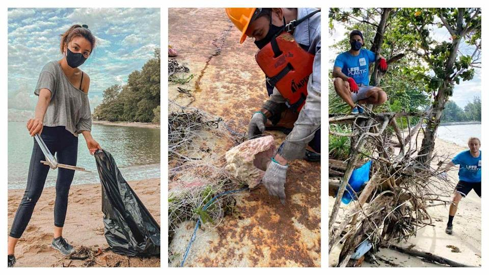 PHOTOS: (FROM LEFT) SEASTAINABLE CO, OUR SINGAPORE REEFS, SEVEN CLEAN SEAS