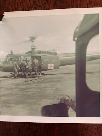 At base camp LZ Betty in Vietnam