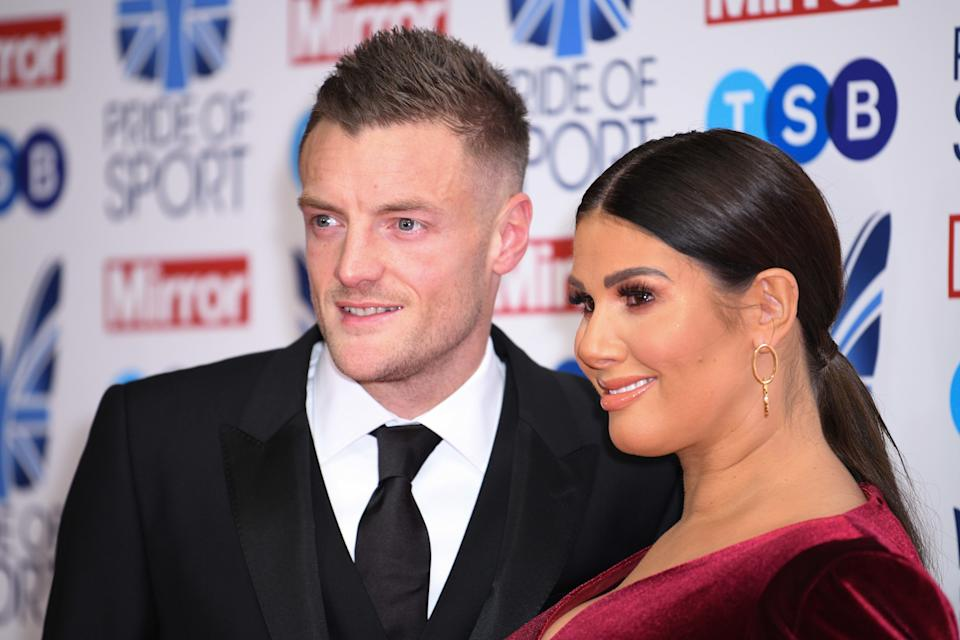 Jamie Vardy and Rebekah Vardy attending Pride of Sport Awards, Grosvenor House Hotel, London.