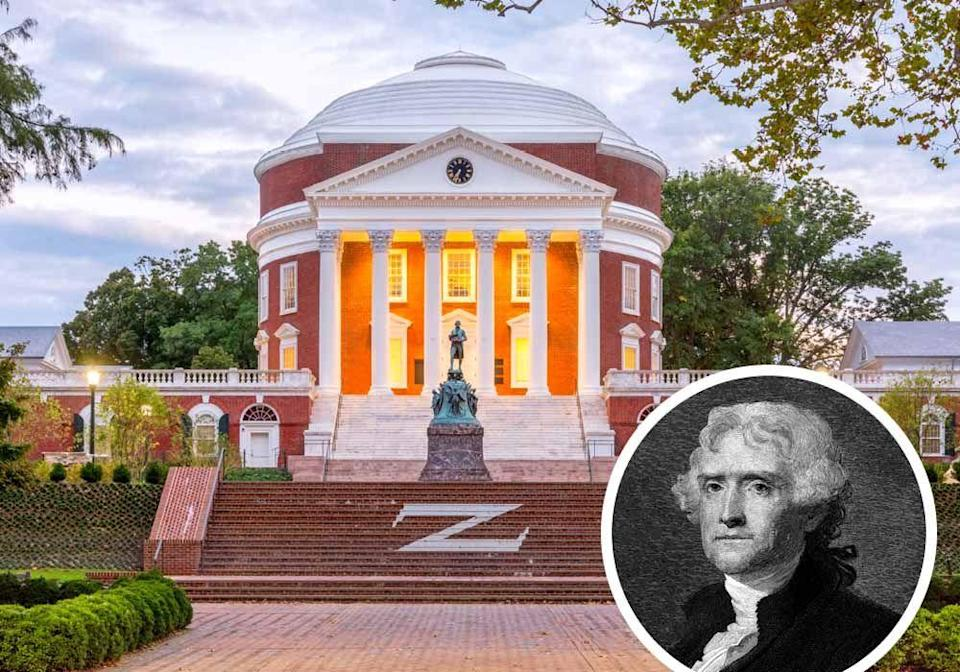 """<p>Adjacent to his boyhood home in Shadwell, architect <strong>Thomas Jefferson</strong> tested the orderly principles of Andrea Palladio in his design of <a href=""""https://www.monticello.org/"""" rel=""""nofollow noopener"""" target=""""_blank"""" data-ylk=""""slk:Monticello"""" class=""""link rapid-noclick-resp"""">Monticello</a>, creating a new template for American architecture. His vision for the buildings of the University of Virginia influenced campuses around the country.</p>"""