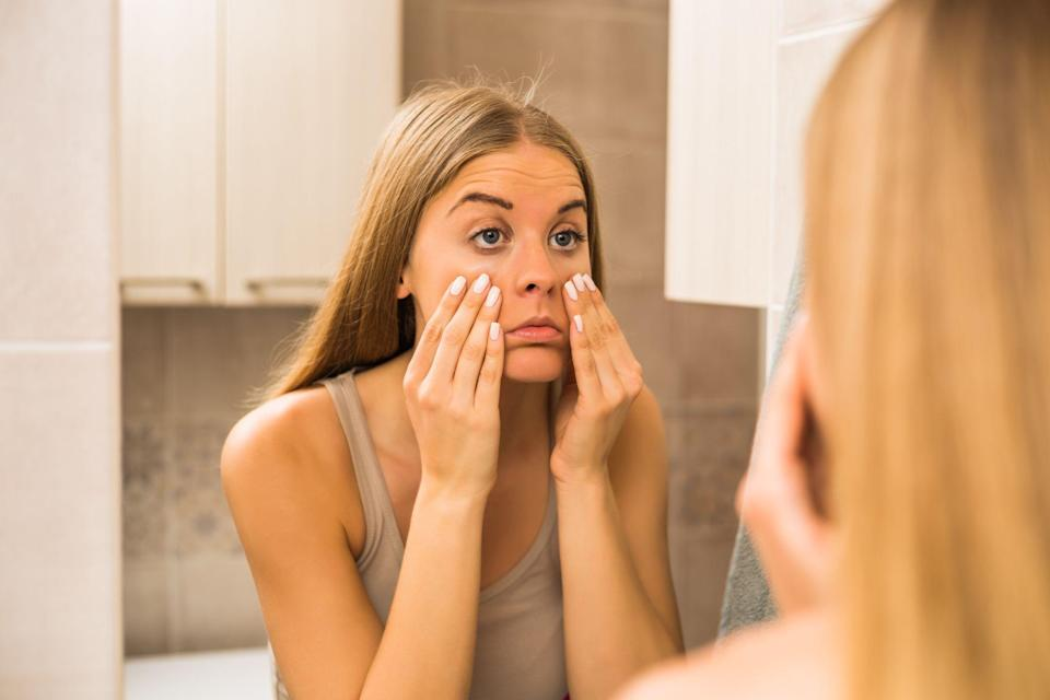 """<p>Eyes aren't just the window to your soul - they offer a glimpse into <a rel=""""nofollow noopener"""" href=""""https://www.womansday.com/health-fitness/"""" target=""""_blank"""" data-ylk=""""slk:your health"""" class=""""link rapid-noclick-resp"""">your health</a> and can signify more serious conditions like diabetes or high cholesterol. Most of these signs you can see for yourself, so long as you know what to look for. Here's what your eyes can reveal about your health, according to <a rel=""""nofollow noopener"""" href=""""https://www.aao.org/biography/81b4b045-65f8-4806-8178-ea775068cb4b"""" target=""""_blank"""" data-ylk=""""slk:Natasha Herz"""" class=""""link rapid-noclick-resp"""">Natasha Herz</a>, M.D., clinical spokesperson for the American Academy of Ophthalmology. </p>"""