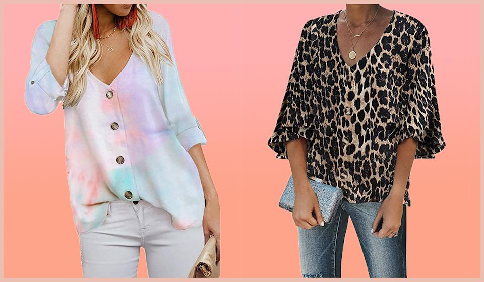 The top is available in six fun prints. (Photo: Amazon)