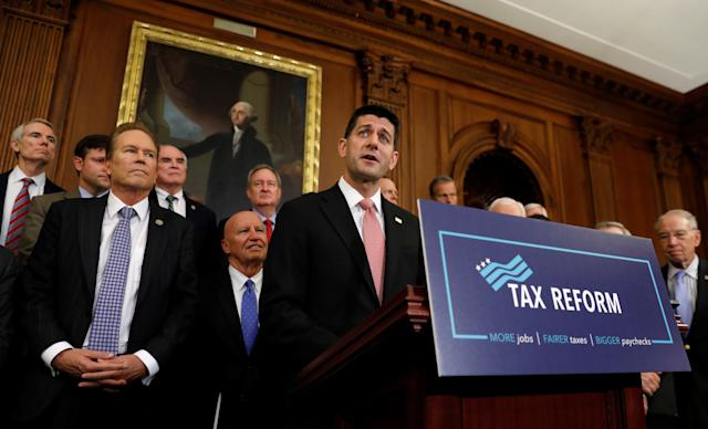 House Speaker Paul Ryan (Wis.) and other Republicans unveiled their tax reform plan this week. It could have a big effect on the mortgage interest deduction. (Photo: Kevin Lamarque/Reuters)