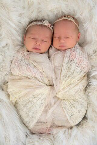 Twin girls Violet and Indiana sleeping together in an image taken before their co-sleeping death in Sunnybank Hills, in Brisbane's south.