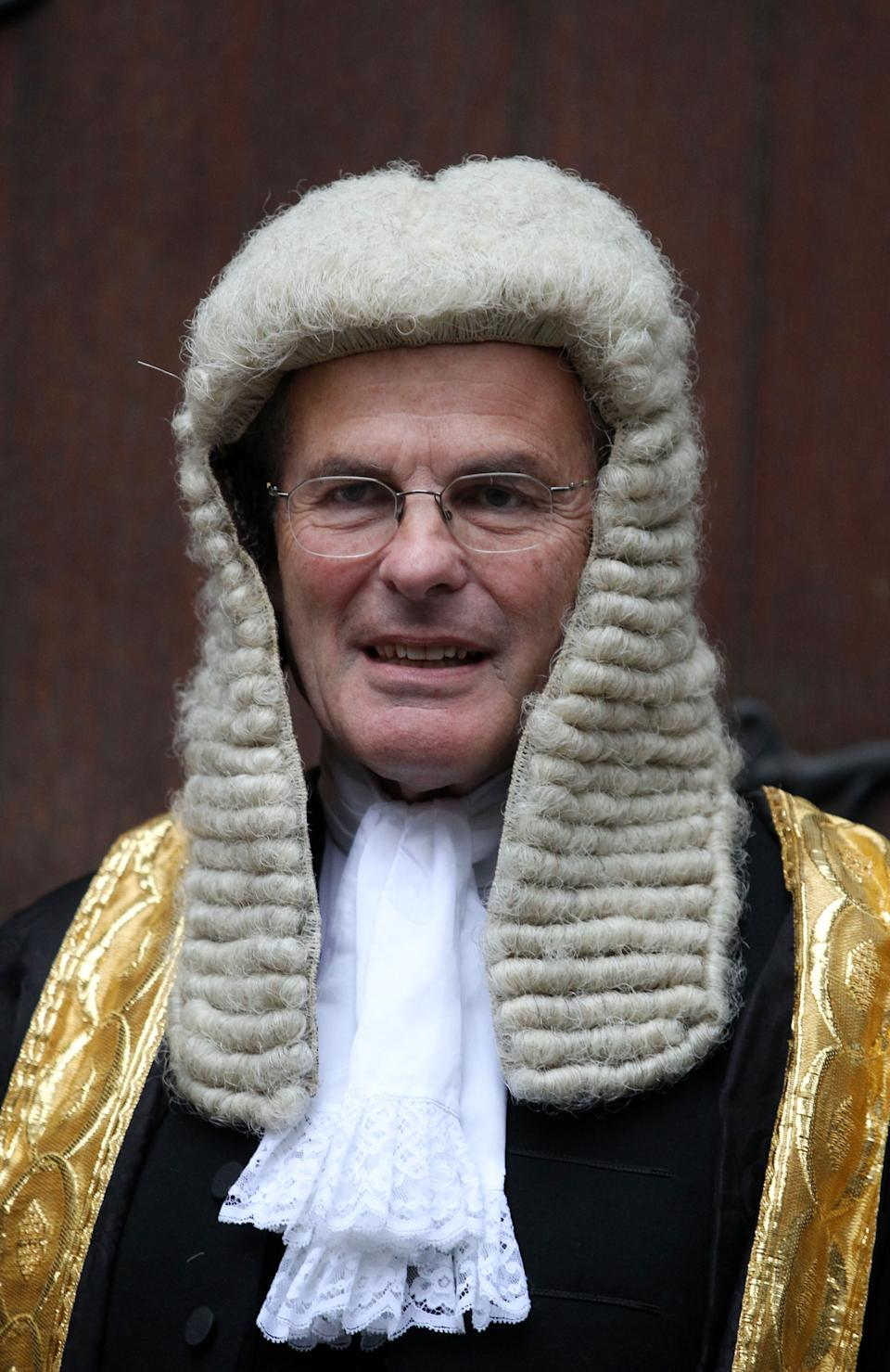 The new Master of the Rolls, Lord Dyson, at The Royal Courts of Justice,The Strand, London.   (Photo by Lewis Whyld/PA Images via Getty Images)