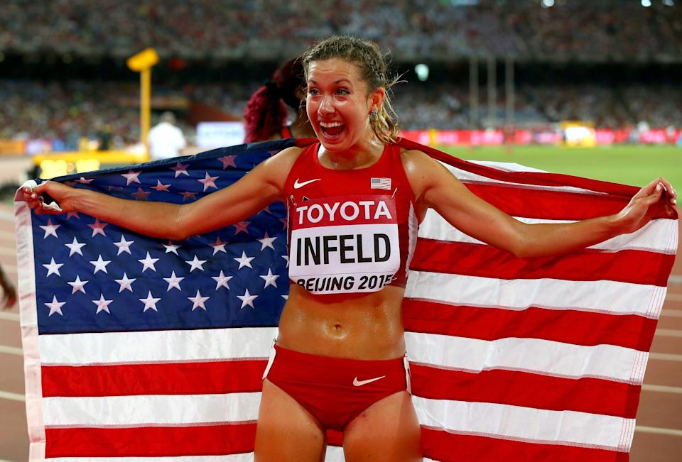 Emily Infield's dream of qualifying for a second Olympic Games was shattered by an alleged stalker (Getty Images)
