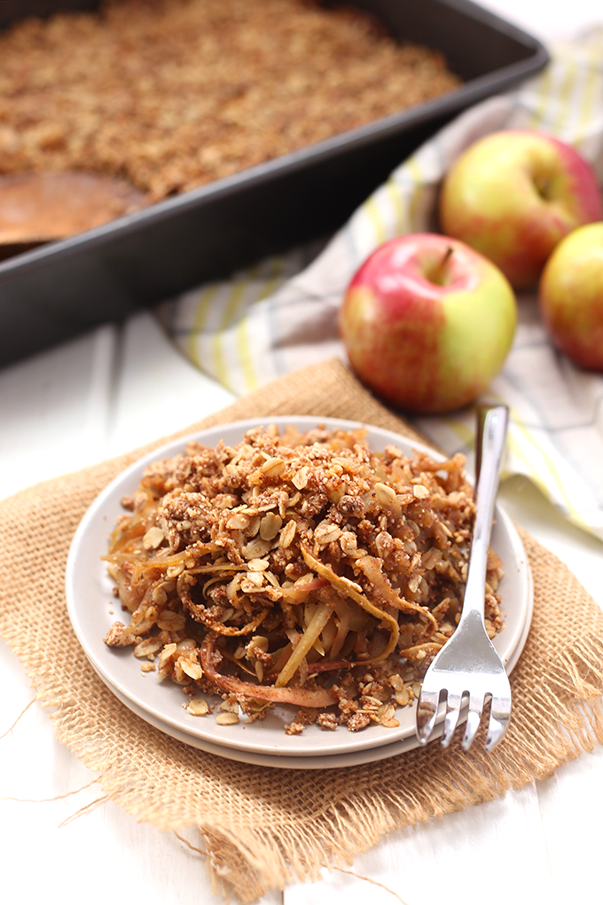 "<p>Skip the chopping and grab the spiralizer—this recipe takes half the time of your average crumble recipe (and it's healthier, to boot!).</p><p><strong>Get the recipe at the <a href=""http://www.thehealthymaven.com/2015/11/spiralized-apple-crumble.html"" rel=""nofollow noopener"" target=""_blank"" data-ylk=""slk:Healthy Maven"" class=""link rapid-noclick-resp"">Healthy Maven</a>.</strong></p>"
