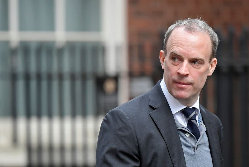 Raab says he last spoke to PM Johnson at weekend