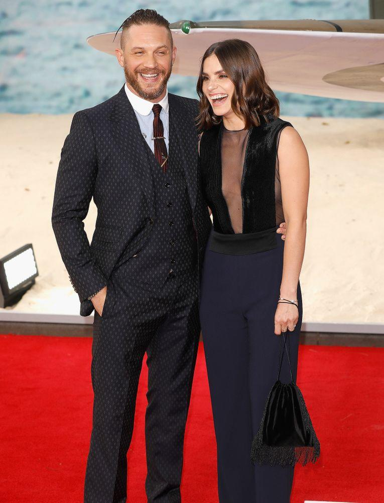 Tom Hardy and Charlotte Riley in July 2017