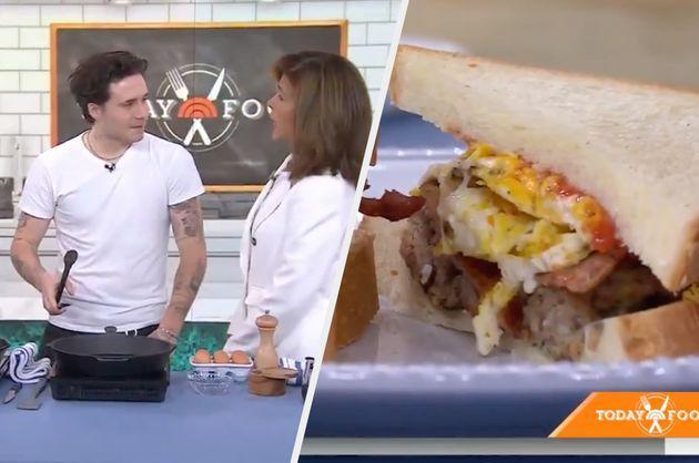 Brooklyn Beckham cooking on The Today Show (Photo: NBC)