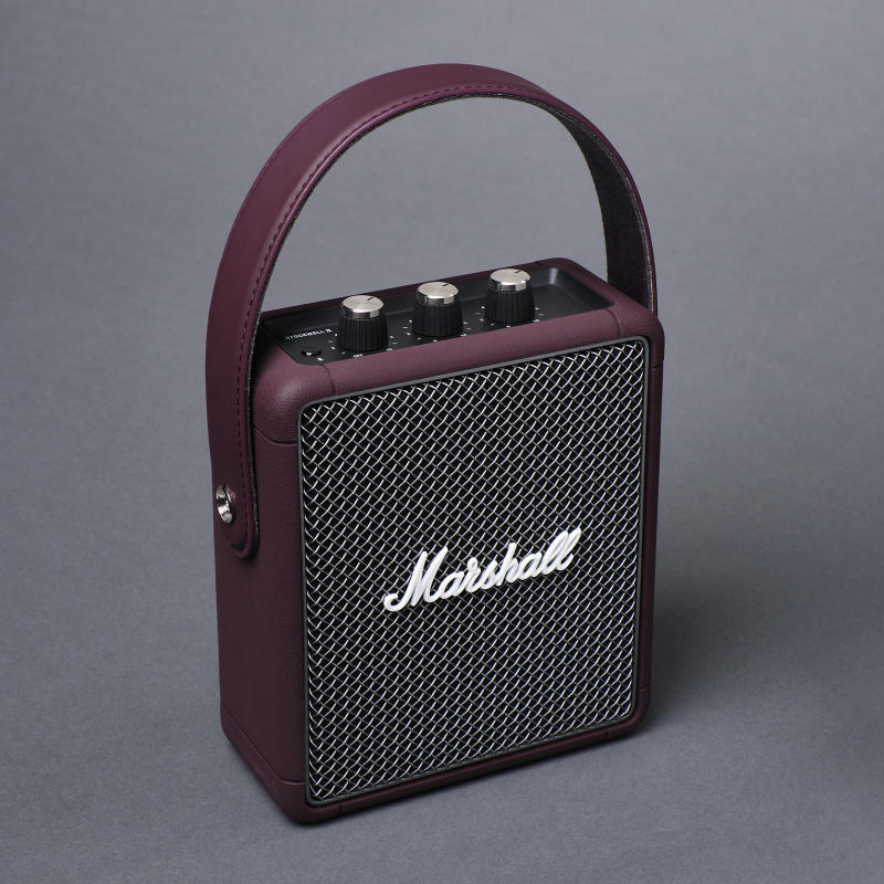Lazada x Marshall limited- edition Stockwell II in Burgundy speakers. (PHOTO: Lazada)