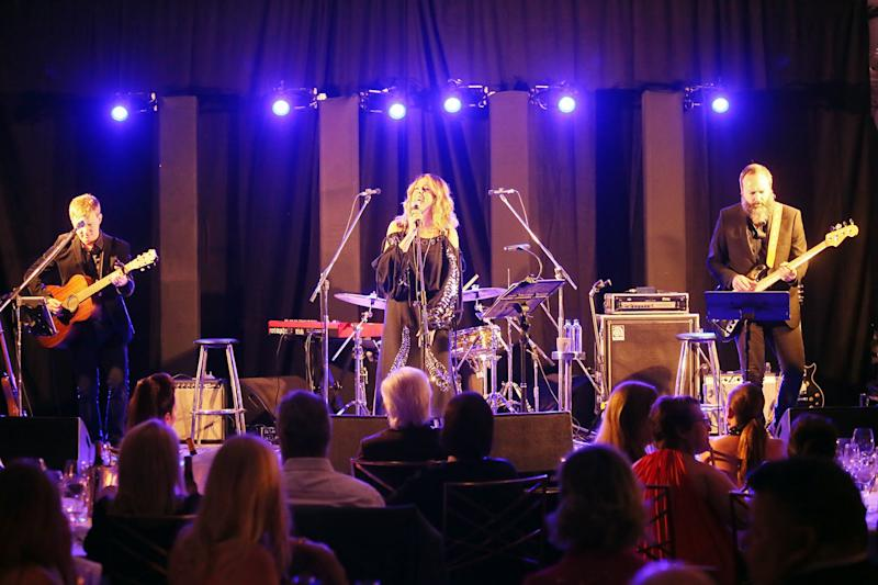 Rota Wilson on stage with her band
