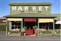 <p>Tiny markets like this one in Yountville, California (in the heart of Napa Valley) make grocery shopping a lot more fun. </p>
