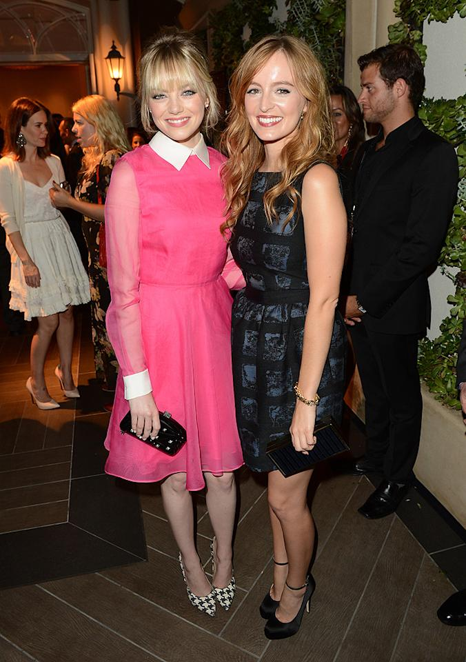BEVERLY HILLS, CA - OCTOBER 15:  Actresses Emma Stone and Ahna O'Reilly attend ELLE's 19th Annual Women In Hollywood Celebration at the Four Seasons Hotel on October 15, 2012 in Beverly Hills, California.  (Photo by Jason Merritt/WireImage)
