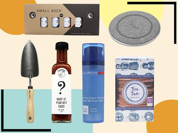 We've rounded up classic gifts, from bamboo socks to handcrafted travel wallets, as well as little luxuries like chocolates and handmade kitchen knives (iStock/The Independent)
