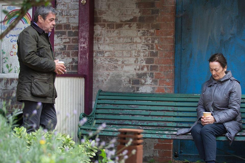 <p>He's looking for answers over the security guard who was involved in his original robbery with Scott years ago. Margaret reveals that Grant was her son, he survived the terrible robbery but it ruined his life and he died an alcoholic.</p>