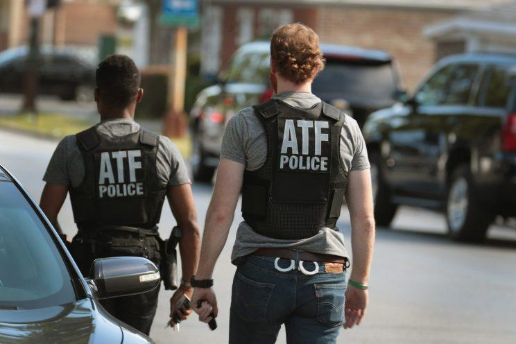 ATF police investigate a shooting at a Chicago elementary school in which two girls were hit by bullets from a car. (Photo: Scott Olson/Getty Images)