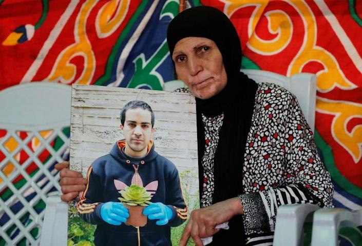 The mother of Iyad Hallak, a 32-year-old Palestinian man with autism who was shot dead by Israeli police when they mistakenly thought he was armed with a pistol (AFP Photo/AHMAD GHARABLI)