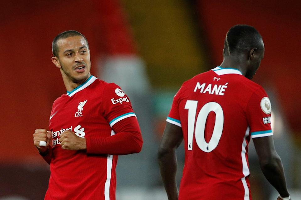 <p>Goals from Thiago and Mane earned Liverpool a key win</p> (Getty Images)