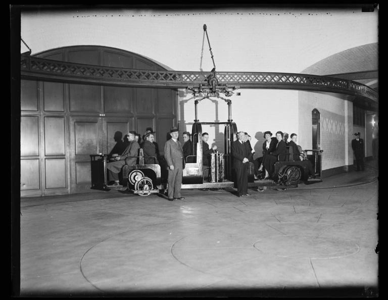 This 1934 image courtesy of the Library of Congress, shows people riding the US Capitol's subway system (AFP/Handout)