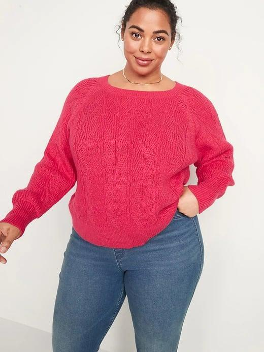 <p>There are seven shades of this <span>Old Navy Lightweight Cable-Knit Sweater</span> ($40) making it pretty irresistible for anyone looking to go beyond black and gray.</p>