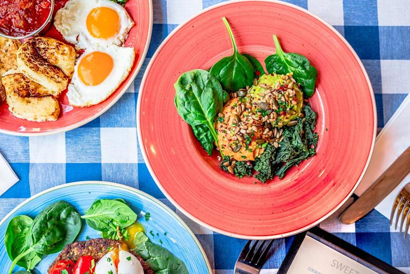 A good morning: A leafy spread at south London brunch favourite Megan's