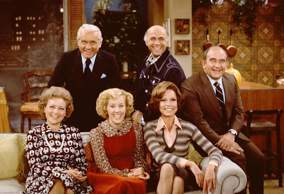 "<p>White continued to appear on <em>The Mary Tyler Moore Show</em> as Sue Ann through 1975, resulting in a great friendship with Moore. When Moore passed away, <a href=""https://www.instagram.com/p/BPvujsBl6z4/?utm_source=ig_embed"" rel=""nofollow noopener"" target=""_blank"" data-ylk=""slk:White said"" class=""link rapid-noclick-resp"">White said</a>, """"Mary Tyler Moore, Grant Tinker, Allen Ludden and I had some of the best times of my life together. She was special.""</p>"