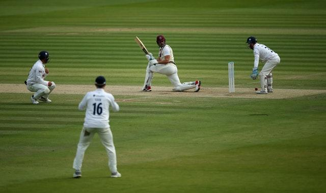 Ben Green, pictured, helped Tom Lammonby put on 105 for the first wicket