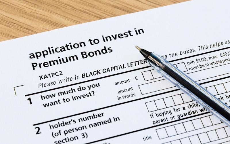 Premium Bonds application form - Credit: Alamy / Pearlstock