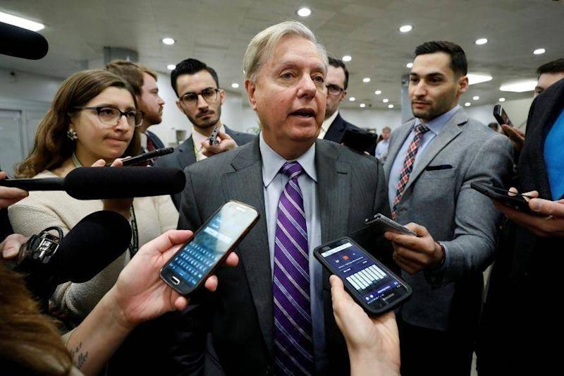 Senator Lindsey Graham said there was a high chance the President would attack North Korea (REUTERS)
