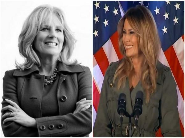 Jill Biden (l) and Melania Trump