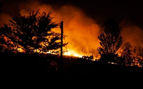 The Ashdown Forest fire - Credit: Alamy/SEUK News