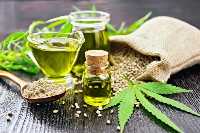 Hemp leaves, oil, seeds, and fiber