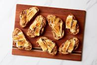 "Cheese and crackers: Basic. Brûléed cheese on toast with chile-pecan paste? Truly elegant. Keep this appetizer recipe in your back pocket for whenever you're feeling fancy. <a href=""https://www.epicurious.com/recipes/food/views/pecan-brie-brulee-nadiya-hussain?mbid=synd_yahoo_rss"" rel=""nofollow noopener"" target=""_blank"" data-ylk=""slk:See recipe."" class=""link rapid-noclick-resp"">See recipe.</a>"