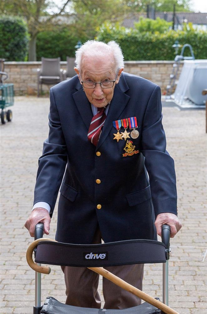 Captain Tom Moore has raised $8 million for the NHS. Source: JustGiving