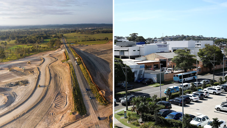 Left: Badgerys Creek; Right: Brookvale, Sydney. Both are areas earmarked for property price growth. (Source: Getty)