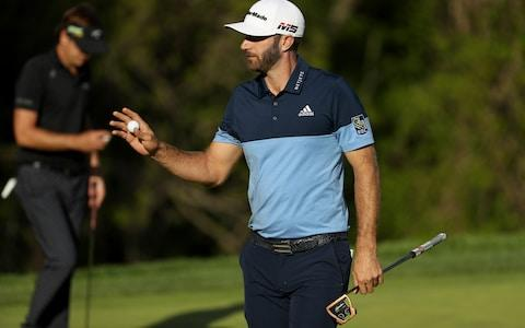 One of Koepka's nearest pursuers is world No 1 Dustin Johnson - Credit: GETTY IMAGES