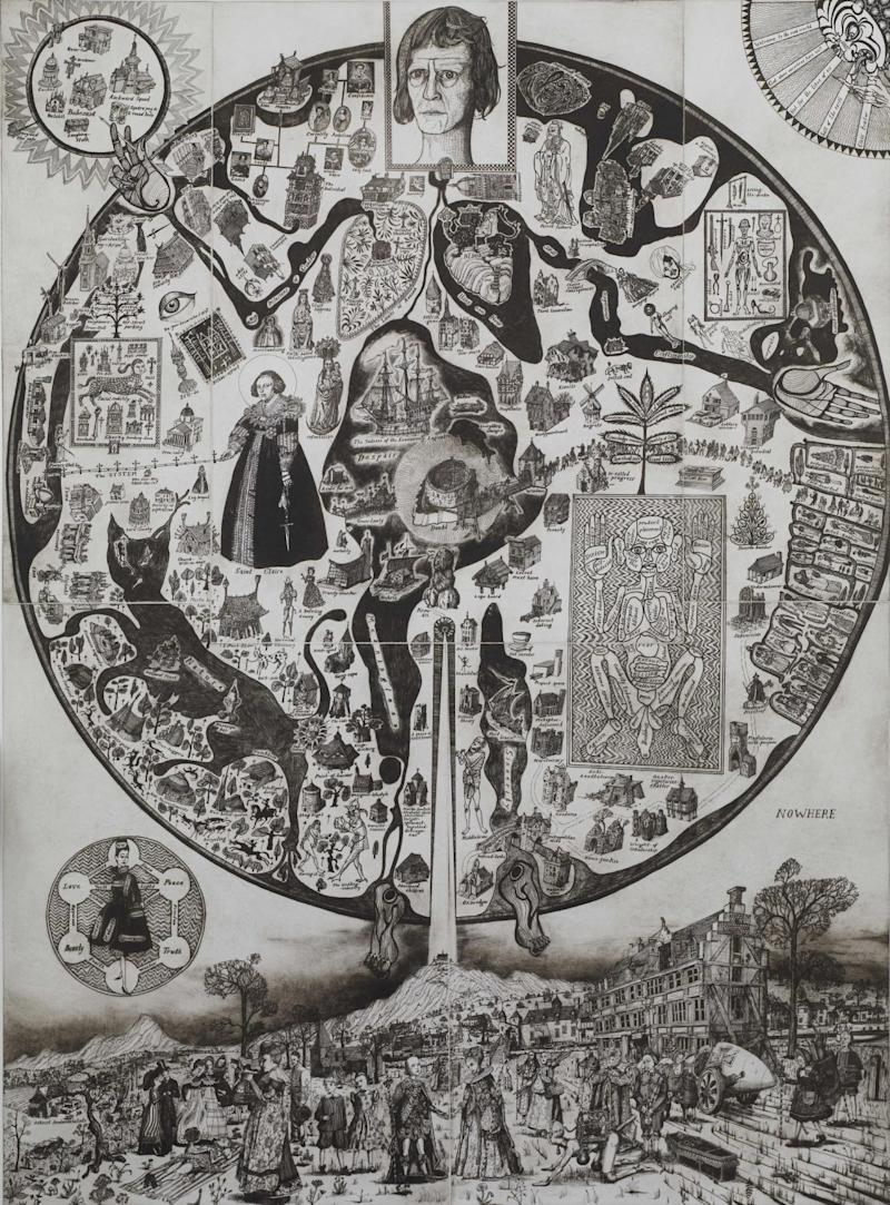 Grayson Perry's Map of Nowhere (Hereford Cathedral)