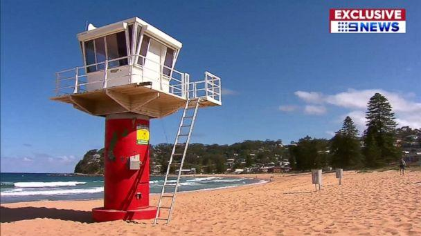 PHOTO: Avoca Beach in Australia was closed after a shark attack, Nov. 14, 2017. (9News)