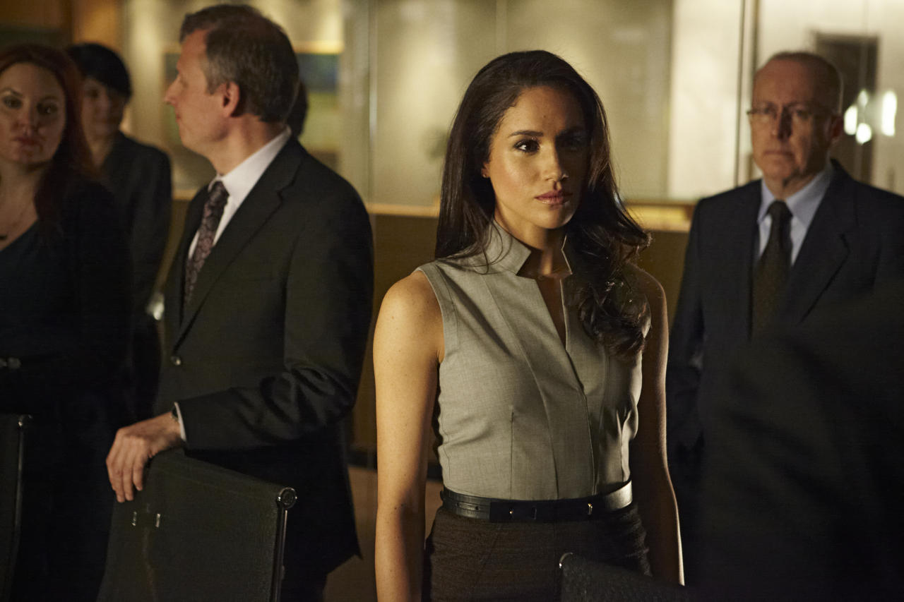 "Meghan Markle as Rachel Zane in the ""Suits"" Season 3 Premiere, ""The Arrangement."""