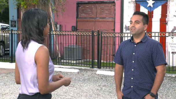PHOTO: Ricardo Negron is helping Puerto Ricans navigate the Democratic process with group Latino Justice. (ABC News)