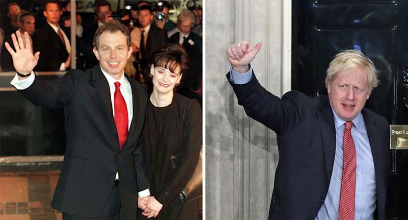 Tony Blair's former seat of Sedgefield has been won by the Conservatives for the first time since 1935 (Pictures: PA/Getty)