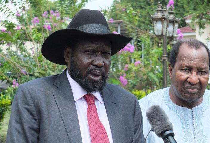 "South Sudan President Salva Kiir said government ""will ensure that all humanitarian and development organisations have unimpeded access to needy populations across the country"" (AFP Photo/Samir BOL)"