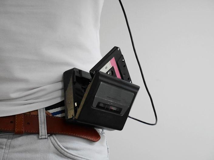"""<p>If you came of age in the 80s, chances were good you had a Walkman. The beloved audio cassette player was in everyone's hands—or on their hips—back then. Today, nostalgia has bumped the resale value of models like the blue TPS-L2 up to <a href=""""https://vocal.media/geeks/sony-walkmans-are-selling-for-usd2000-thanks-to-guardians-of-the-galaxy-s-popularity"""" rel=""""nofollow noopener"""" target=""""_blank"""" data-ylk=""""slk:as much as $500"""" class=""""link rapid-noclick-resp"""">as much as $500</a>. </p>"""