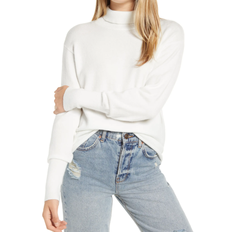 Mock Neck Sweater by Leith is on sale during the Nordstrom Made sale.