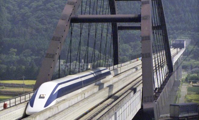An earlier version of the maglev train performed a test run in Yamanashi, which clocked in at 281 mph on September 20, 2000.