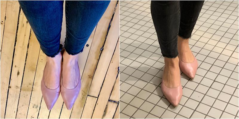 The Everlane 40-Hour Flats in Dusty Lilac