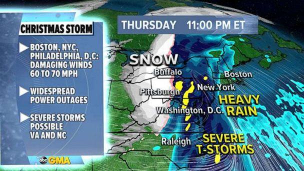 PHOTO: The Christmas week storm is on the move across the U.S., Dec. 22, 2020. (ABC News)