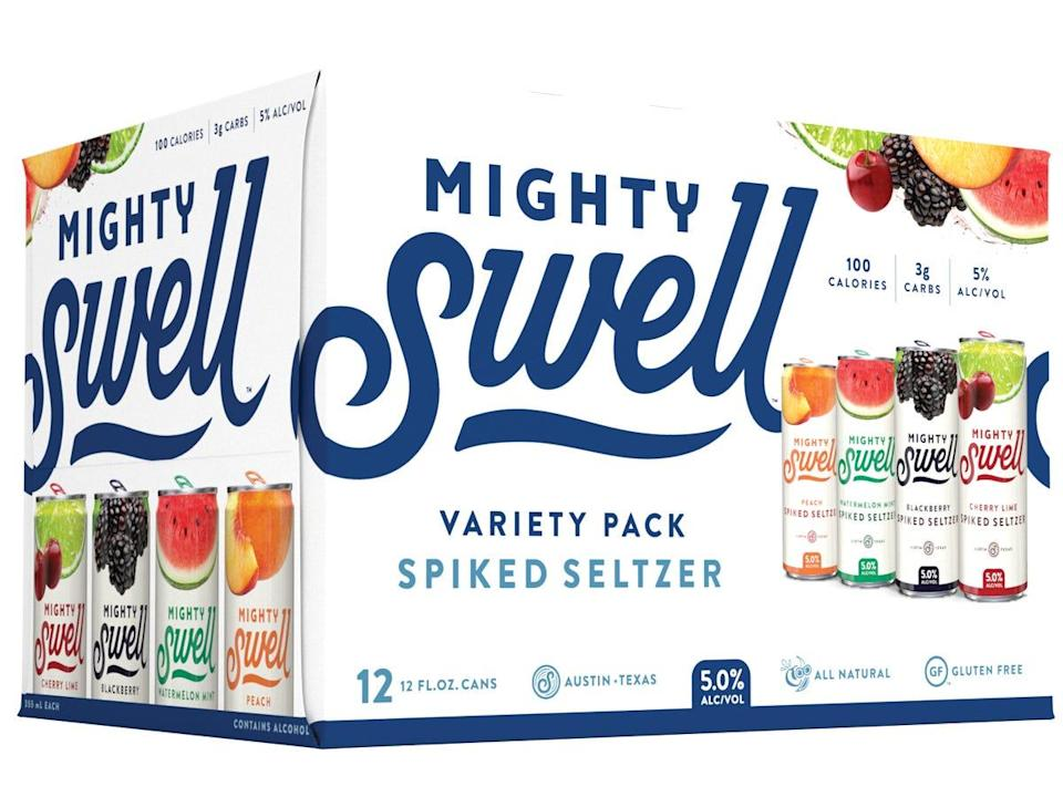 mighty swell classic variety pack of spiked seltzers